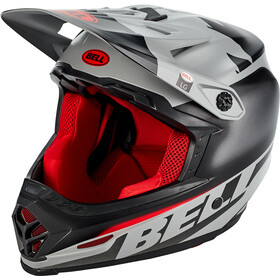Bell Full-9 Fusion MIPS Casco, matte/gloss gray/crimson